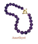 """Hand Knotted 14mm Amethyst beads with a substantial custom 18k Cristen Toggle Clasp accented by two cabochon Amethysts. Wear the clasp front and center or on the side for a sophisticated look, or attach an enhancer. - overall length  18"""",  $1,500.00"""