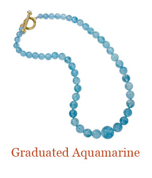 Hand Knotted graduated and gorgeous quality Aquamarine beads. The ...
